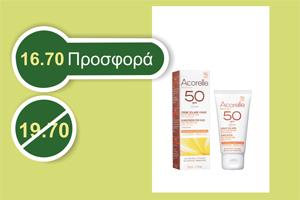 Acorelle FACE SUNSCREEN Sensitive Skins 50 SPF 50 ml